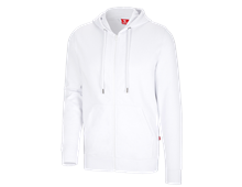 e.s. Hoody sweat zippé poly cotton