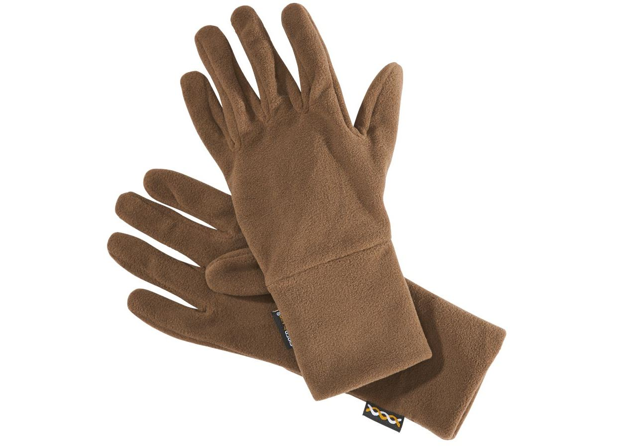 Accessoires: e.s. Gants en laine polaire FIBERTWIN® microfleece + marron
