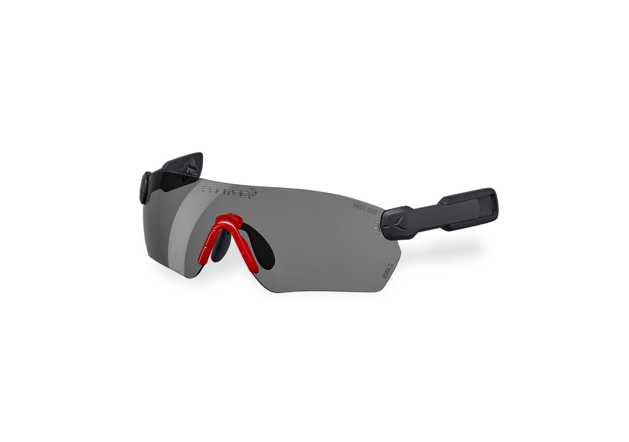 Kopfschutz Zubehör: e.s. Schutzbrille  Protos® Integral + grau verspiegelt