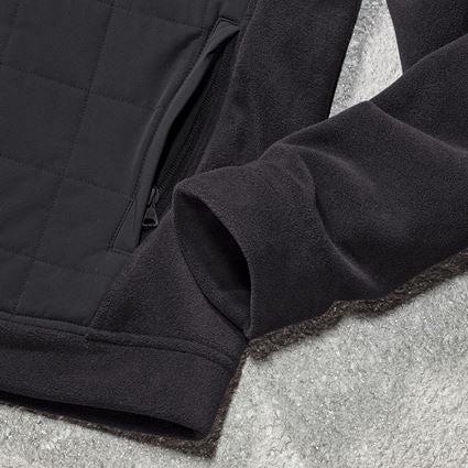 Vestes de travail: Veste en laine polaire à cap. hybride e.s.concrete + noir 2