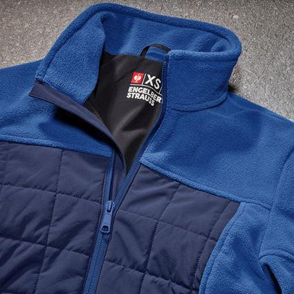 Vestes de travail: Veste en laine polaire hybride e.s.concrete,femmes + bleu alcalin/bleu profond 2