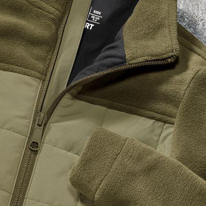 Vestes: Veste en laine polaire hybride e.s.concrete,enfant + vert boue/vert stipa 2