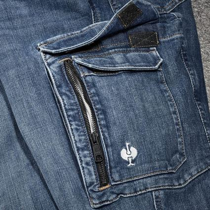 Pantalons de travail: Jeans de travail cargo e.s.concrete + stonewashed 2