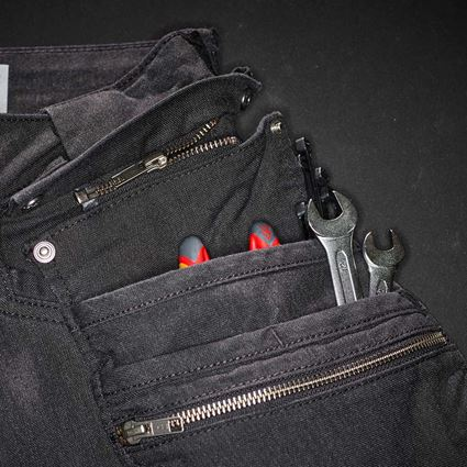 Pantalons de travail: Pantalon à taille élastique holster e.s. vintage + noir 2