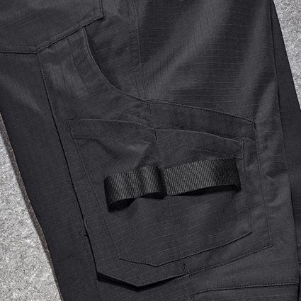 Pantalons de travail: Pantalon à taille élast. e.s.concrete solid femmes + noir 2