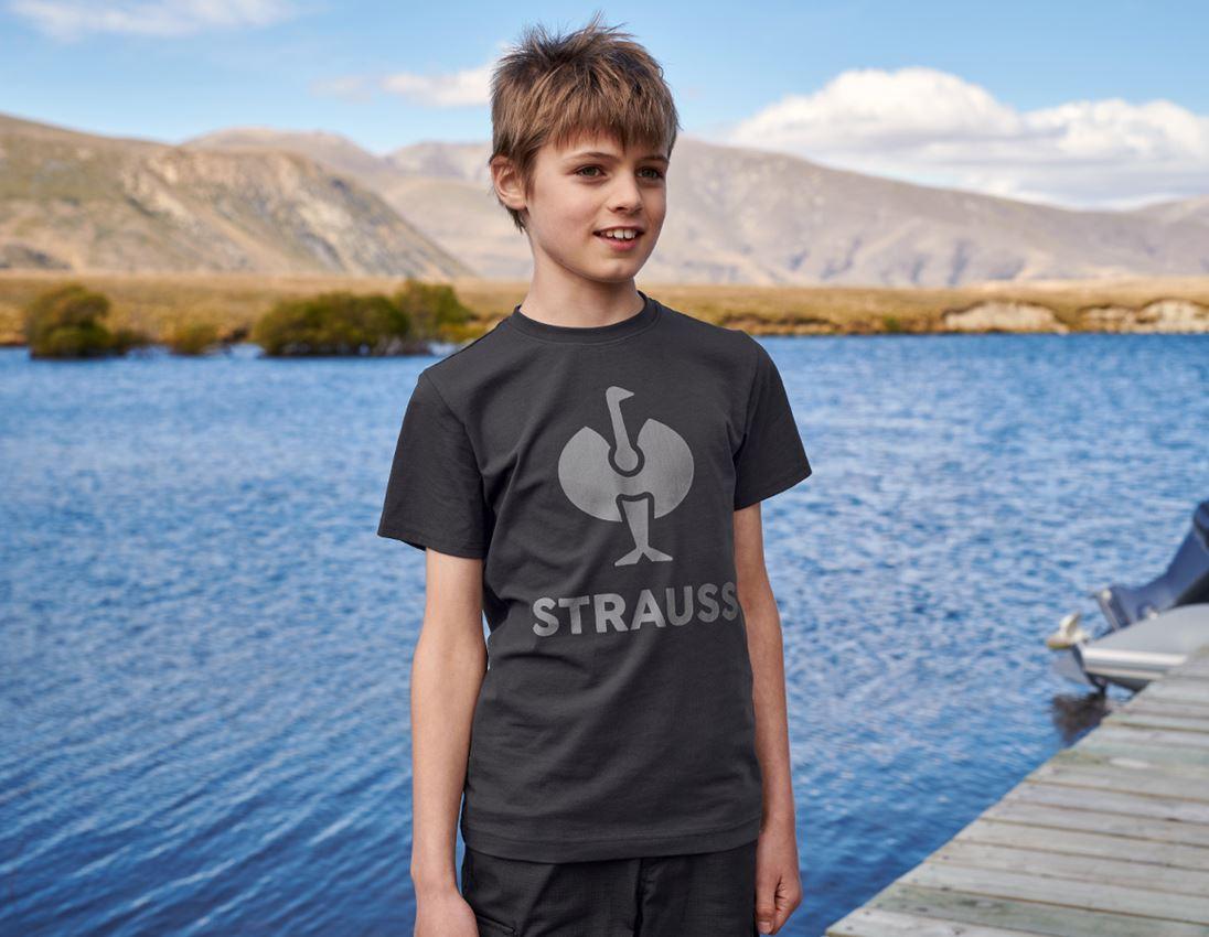 Hauts: T-shirt e.s.concrete, enfants + noir