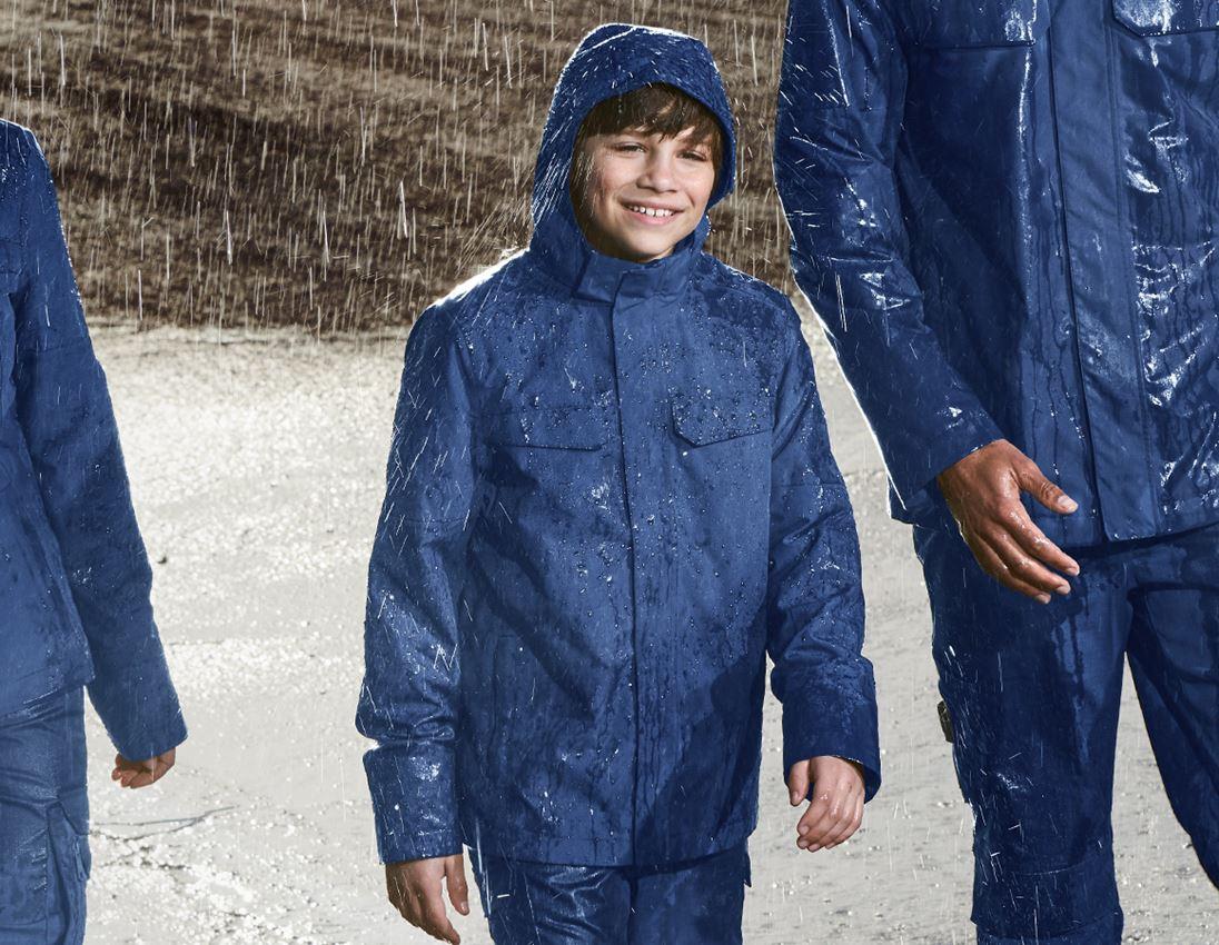 Vestes: Veste de pluie e.s.concrete, enfants + bleu alcalin