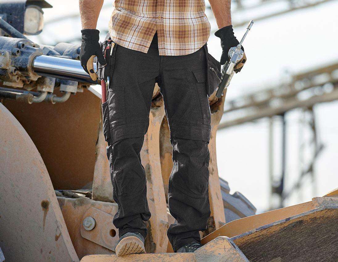 Pantalons de travail: Pantalon à taille élastique holster e.s. vintage + noir