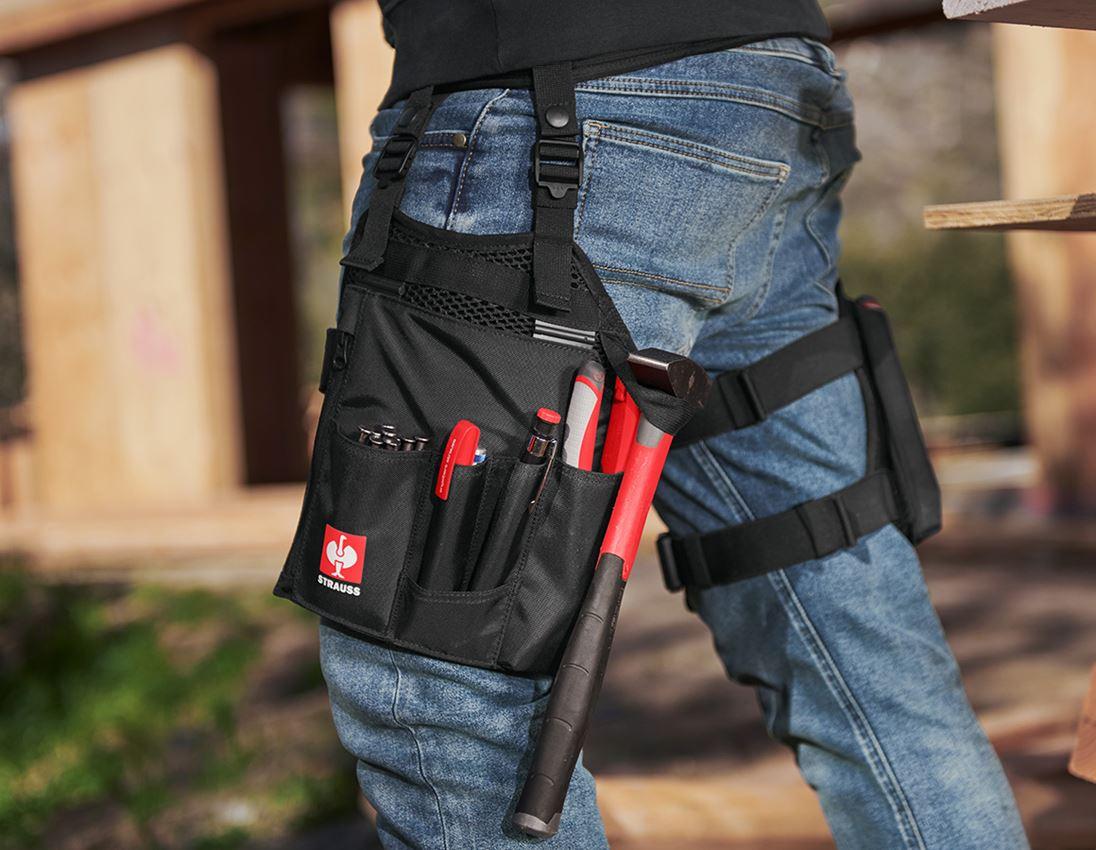 Accessoires: e.s. Werkzeugtaschen-Set Legpack + schwarz