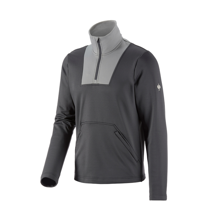 Hauts: Fonction-Troyer thermo stretch e.s.concrete + anthracite/gris perle