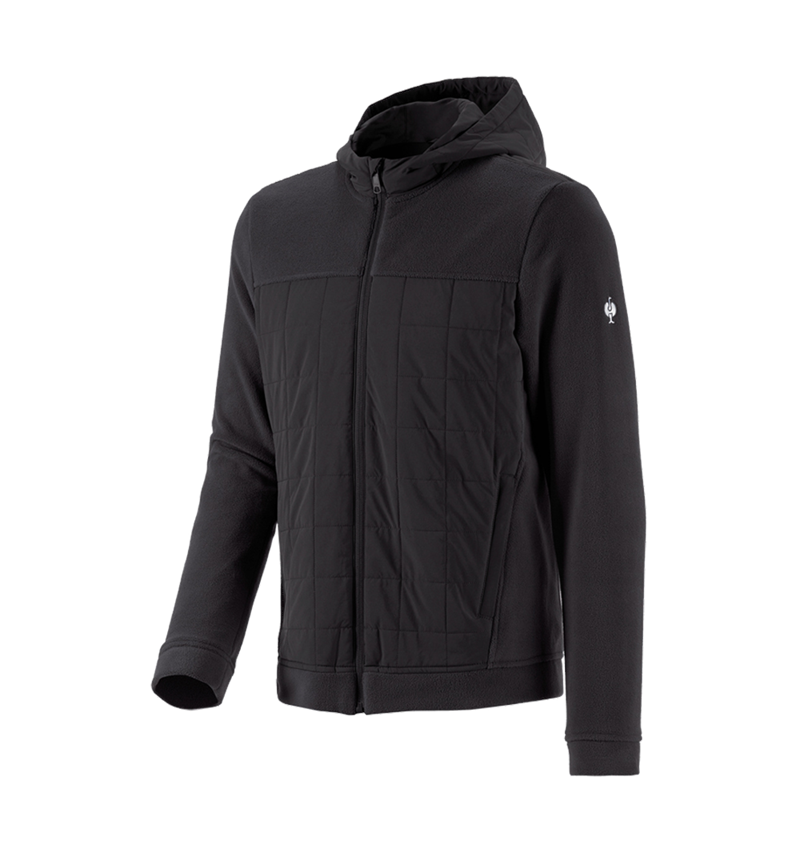 Vestes de travail: Veste en laine polaire à cap. hybride e.s.concrete + noir