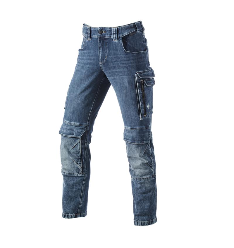 Pantalons de travail: Jeans de travail cargo e.s.concrete + stonewashed