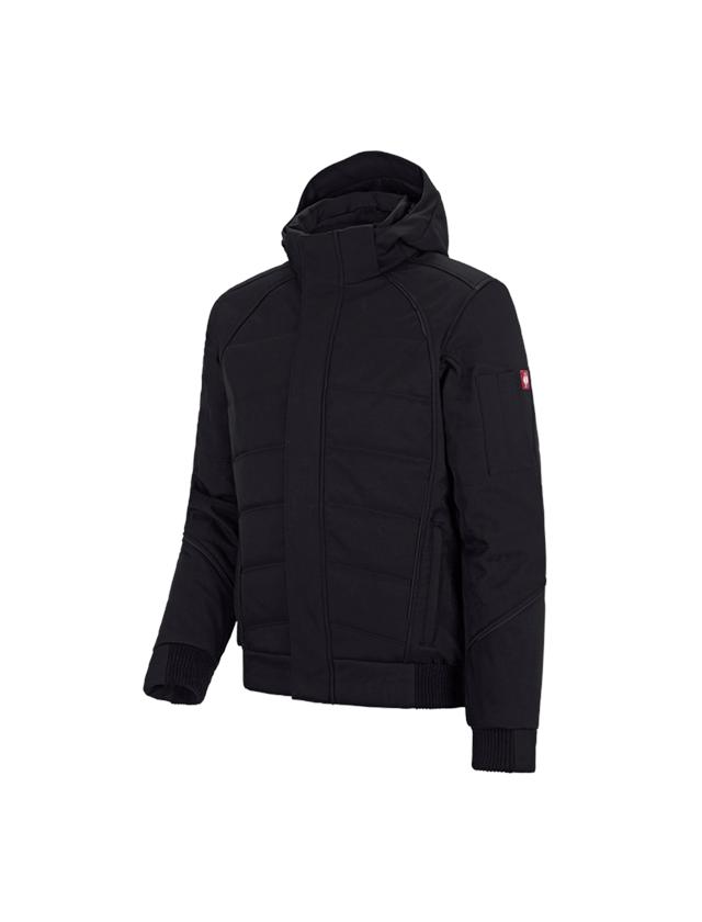 Vestes de travail: Veste softshell d'hiver e.s.vision + noir