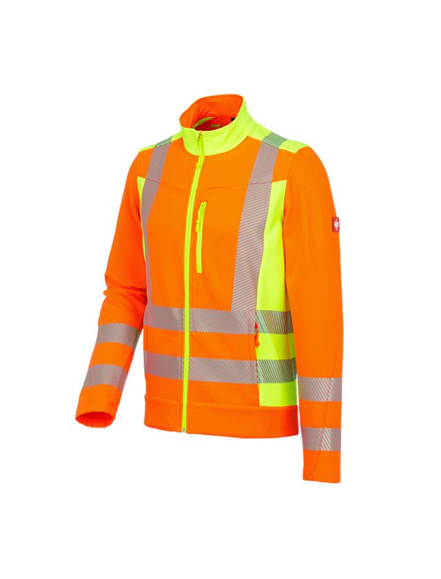Vestes de travail: Veste softshell signal. softl. e.s.motion 2020 + orange fluo/jaune fluo
