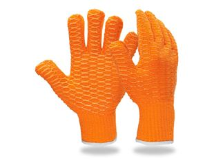 Gants en tricot en PVC Criss-Cross