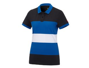 e.s. Piqué-Polo cotton stripe, Damen