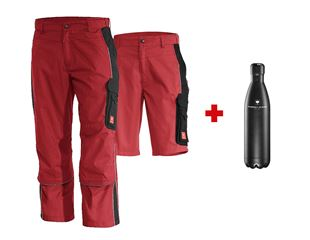 SET: Bundhose e.s. active + Short + Trinkflasche