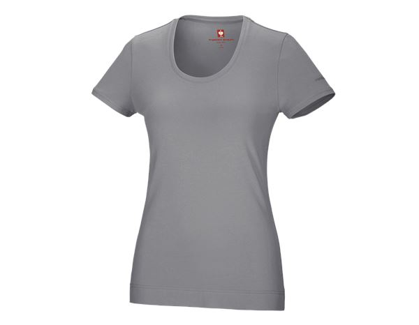 Shirts & Co.: e.s. T-Shirt cotton stretch, Damen + platin