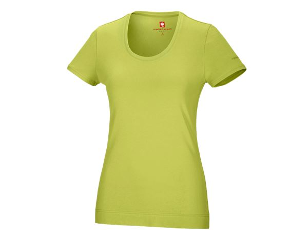 Shirts & Co.: e.s. T-Shirt cotton stretch, Damen + maigrün