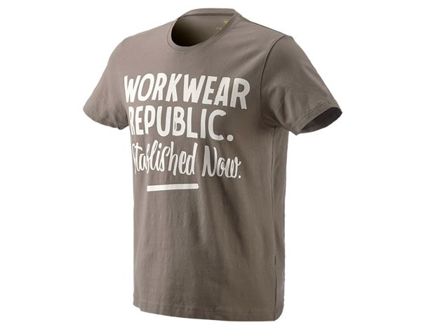 Shirts & Co.: e.s. T-Shirt workwear republic + stein/gips