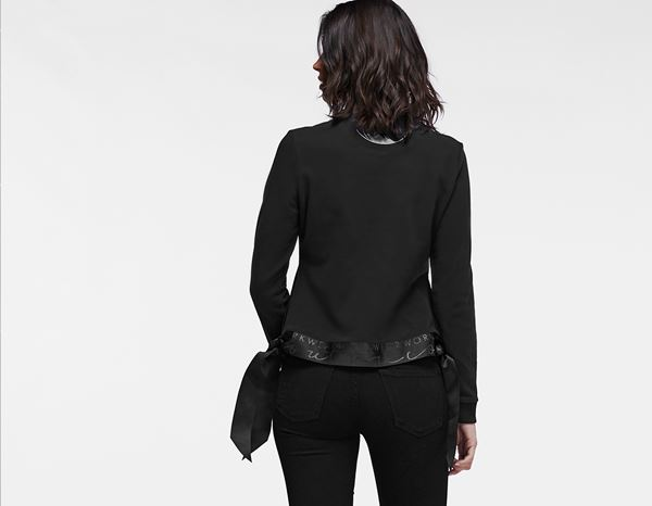 workwear couture: Long Ribbon Sweater + black 1