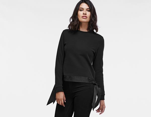 workwear couture: Long Ribbon Sweater + black
