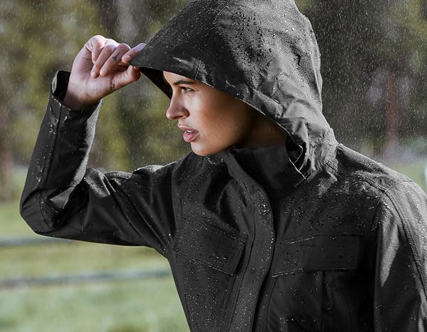 Vestes de travail: Stunt'n'Media Pyro Waterproof Jacket, Ladies' + black 1