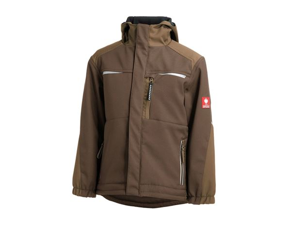 Jacken: Kinder Softshelljacke e.s.motion + kastanie/haselnuss
