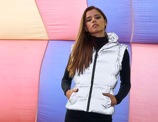 workwear couture: Radiate Vest + silver-reflective