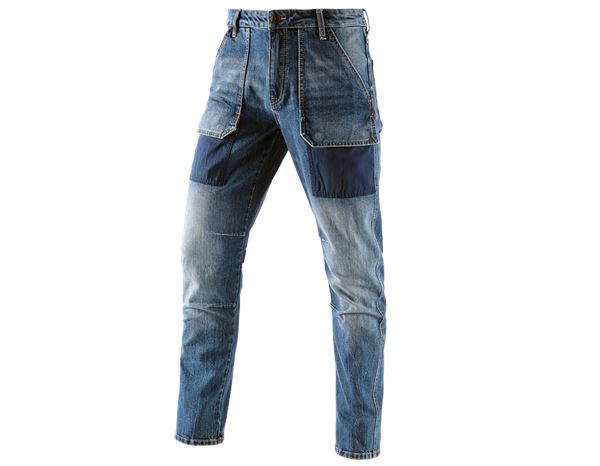 Hosen: e.s. 7-Pocket-Jeans POWERdenim + stonewashed