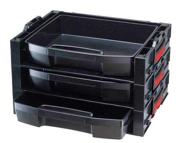 Systemboxen: e.s. i-Rack active + schwarz/rot 2