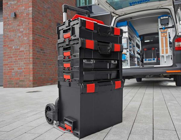 Systemboxen: e.s. i-Rack active + schwarz/rot 5