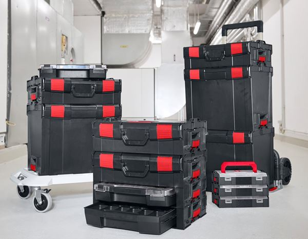 Systemboxen: e.s. i-Rack active + schwarz/rot 11