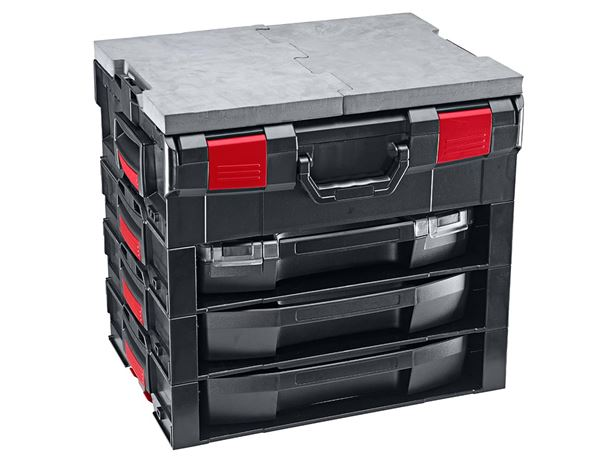 Systemboxen: e.s. i-Rack active + schwarz/rot 7